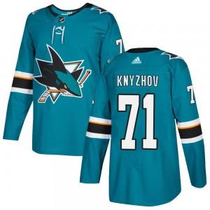 Nikolai Knyzhov San Jose Sharks Men's Adidas Authentic Teal ized Home Jersey
