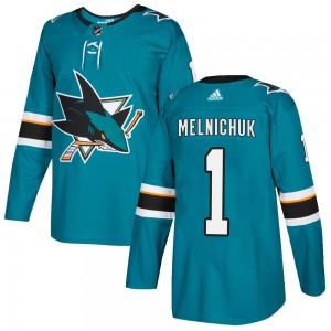Alexei Melnichuk San Jose Sharks Men's Adidas Authentic Teal Home Jersey