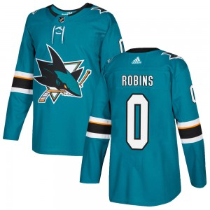 Tristen Robins San Jose Sharks Men's Adidas Authentic Teal Home Jersey