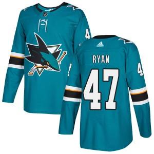Joakim Ryan San Jose Sharks Men's Adidas Authentic Teal Home Jersey