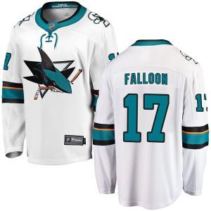 Pat Falloon San Jose Sharks Men's Fanatics Branded White Breakaway Away Jersey