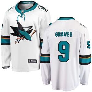 Adam Graves San Jose Sharks Men's Fanatics Branded White Breakaway Away Jersey