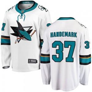 Fredrik Handemark San Jose Sharks Men's Fanatics Branded White Breakaway Away Jersey