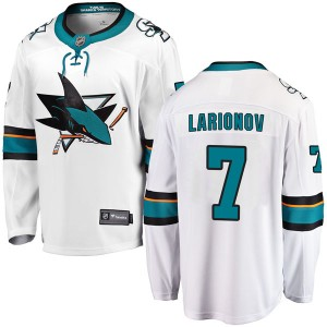 Igor Larionov San Jose Sharks Men's Fanatics Branded White Breakaway Away Jersey