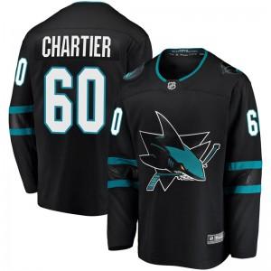 Rourke Chartier San Jose Sharks Youth Fanatics Branded Black Breakaway Alternate Jersey