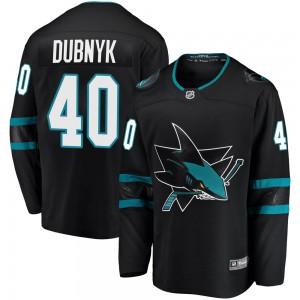 Devan Dubnyk San Jose Sharks Youth Fanatics Branded Black Breakaway Alternate Jersey