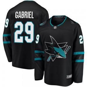 Kurtis Gabriel San Jose Sharks Youth Fanatics Branded Black Breakaway Alternate Jersey