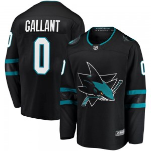 Zachary Gallant San Jose Sharks Youth Fanatics Branded Black Breakaway Alternate Jersey