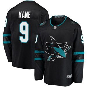 Evander Kane San Jose Sharks Youth Fanatics Branded Black Breakaway Alternate Jersey