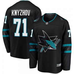 Nikolai Knyzhov San Jose Sharks Youth Fanatics Branded Black ized Breakaway Alternate Jersey