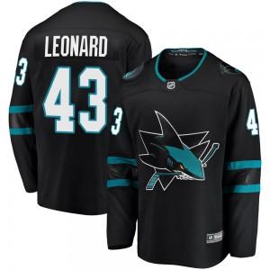 John Leonard San Jose Sharks Youth Fanatics Branded Black Breakaway Alternate Jersey