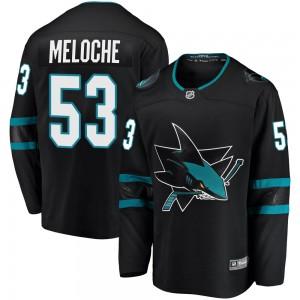Nicolas Meloche San Jose Sharks Youth Fanatics Branded Black Breakaway Alternate Jersey