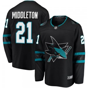 Jacob Middleton San Jose Sharks Youth Fanatics Branded Black Breakaway Alternate Jersey
