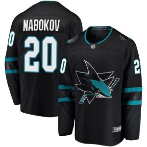 Evgeni Nabokov San Jose Sharks Youth Fanatics Branded Black Breakaway Alternate Jersey
