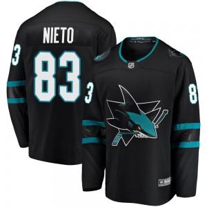 Matt Nieto San Jose Sharks Youth Fanatics Branded Black Breakaway Alternate Jersey