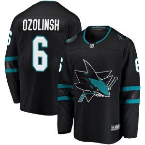 Sandis Ozolinsh San Jose Sharks Youth Fanatics Branded Black Breakaway Alternate Jersey