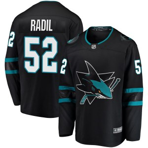 Lukas Radil San Jose Sharks Youth Fanatics Branded Black Breakaway Alternate Jersey