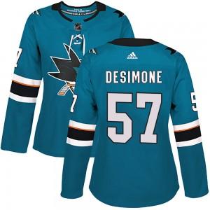 Nick DeSimone San Jose Sharks Women's Adidas Authentic Teal ized Home Jersey