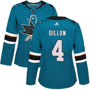 Brenden Dillon San Jose Sharks Women's Adidas Authentic Teal Home Jersey