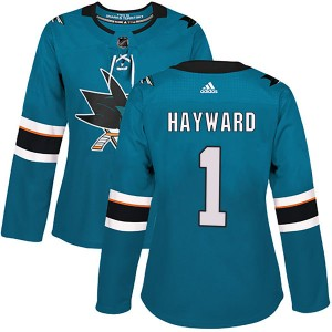 Brian Hayward San Jose Sharks Women's Adidas Authentic Teal Home Jersey