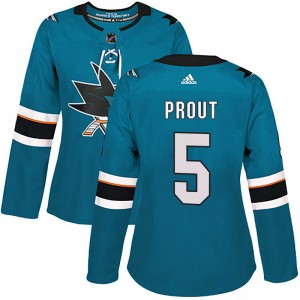 Dalton Prout San Jose Sharks Women's Adidas Authentic Teal Home Jersey