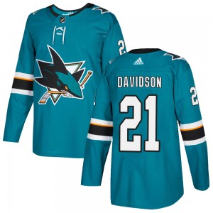 Brandon Davidson San Jose Sharks Youth Adidas Authentic Teal ized Home Jersey