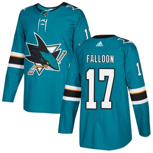 Pat Falloon San Jose Sharks Youth Adidas Authentic Teal Home Jersey
