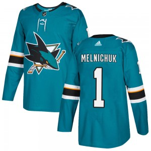 Alexei Melnichuk San Jose Sharks Youth Adidas Authentic Teal Home Jersey