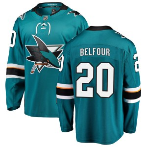 Ed Belfour San Jose Sharks Men's Fanatics Branded Teal Breakaway Home Jersey