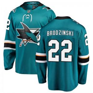 Jonny Brodzinski San Jose Sharks Men's Fanatics Branded Teal Breakaway Home Jersey