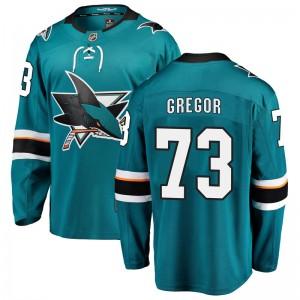 Noah Gregor San Jose Sharks Men's Fanatics Branded Teal Breakaway Home Jersey