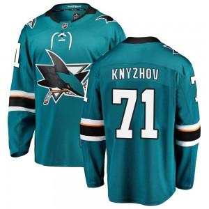 Nikolai Knyzhov San Jose Sharks Men's Fanatics Branded Teal ized Breakaway Home Jersey