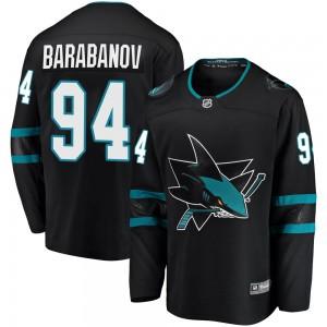 Alexander Barabanov San Jose Sharks Men's Fanatics Branded Black Breakaway Alternate Jersey