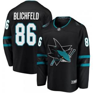 Joachim Blichfeld San Jose Sharks Men's Fanatics Branded Black Breakaway Alternate Jersey