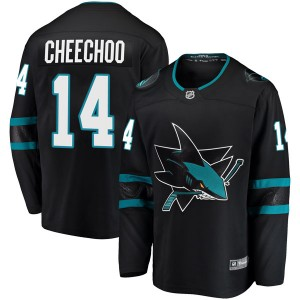 Jonathan Cheechoo San Jose Sharks Men's Fanatics Branded Black Breakaway Alternate Jersey