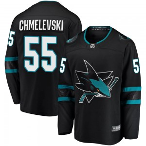 Alexander Chmelevski San Jose Sharks Men's Fanatics Branded Black Breakaway Alternate Jersey