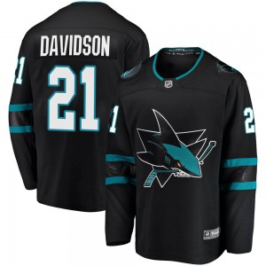 Brandon Davidson San Jose Sharks Men's Fanatics Branded Black ized Breakaway Alternate Jersey