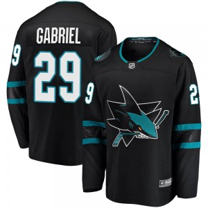 Kurtis Gabriel San Jose Sharks Men's Fanatics Branded Black Breakaway Alternate Jersey