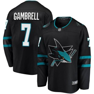 Dylan Gambrell San Jose Sharks Men's Fanatics Branded Black Breakaway Alternate Jersey