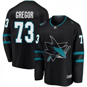 Noah Gregor San Jose Sharks Men's Fanatics Branded Black Breakaway Alternate Jersey