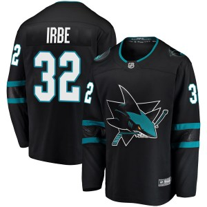 Arturs Irbe San Jose Sharks Men's Fanatics Branded Black Breakaway Alternate Jersey