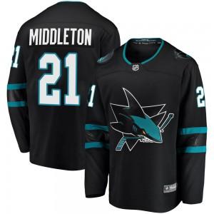 Jacob Middleton San Jose Sharks Men's Fanatics Branded Black Breakaway Alternate Jersey
