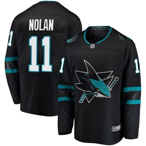 Owen Nolan San Jose Sharks Men's Fanatics Branded Black Breakaway Alternate Jersey