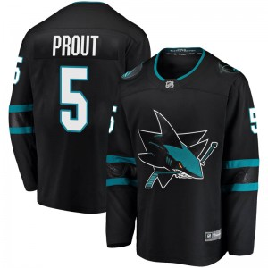 Dalton Prout San Jose Sharks Men's Fanatics Branded Black Breakaway Alternate Jersey