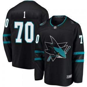 Alex True San Jose Sharks Men's Fanatics Branded Black Breakaway Alternate Jersey
