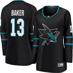 Jamie Baker San Jose Sharks Women's Fanatics Branded Black Breakaway Alternate Jersey