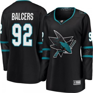 Rudolfs Balcers San Jose Sharks Women's Fanatics Branded Black Breakaway Alternate Jersey