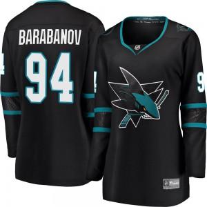 Alexander Barabanov San Jose Sharks Women's Fanatics Branded Black Breakaway Alternate Jersey