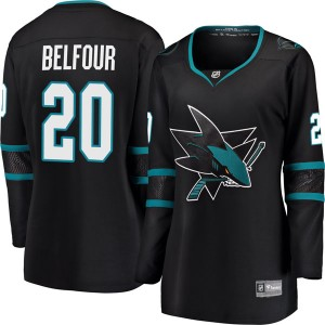 Ed Belfour San Jose Sharks Women's Fanatics Branded Black Breakaway Alternate Jersey