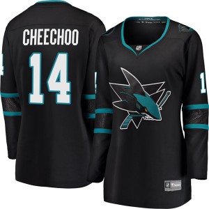 Jonathan Cheechoo San Jose Sharks Women's Fanatics Branded Black Breakaway Alternate Jersey